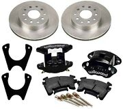 New Rear Brake Rotor,weld-on Bracket,and Wilwood Black D154 Caliper Set With Pads