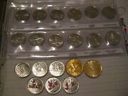 Canada Vancouver 2010 Olympics Complete 20 Coins Set In Album.