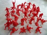 1960and039s Very Rare Marx Football Red Complete Set Of 29