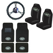 New Nfl New York Jets Car Truck Seat Covers Floor Mats Steering Wheel Cover