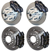 Wilwood Disc Brake Kit W/ Spindles62-72 Cdp B And E-body11 Rotorscableslines