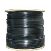 Rg6 3ghz Coaxial Coax Cable - Hdtv Satellite Cable Tv Catv Satv 1000ft - Black