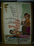 The Long Hot Summer Orig 1-sht / Movie Poster Paul Newman Joanne Woodward