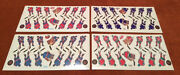 Lot Of 4 Mtl Stl Nyi Njd Coleco Hockey Team 1980's Stickers Never Used Nr Mint