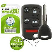 Replacement For 2001 2002 Honda Odyssey Car Key + Fob Remote