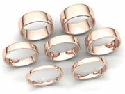 Comfort Fit Euro Dome Wedding Band Ring Mens Womens 2mm-8mm Solid 18k Rose Gold
