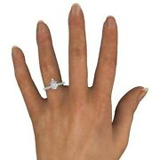 1.50 Ct Pear Cut F/si1 Natural Diamond Solitaire Engagement Ring 18k White Gold