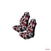 New Red Hawaiian Flowers Hibiscus Floral Print Car Front Bucket Seat Covers
