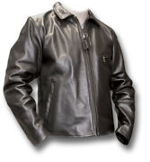 1 New Vanson Enfield Leather Motorcycle Jacket 46 Chest [70660]
