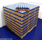 1200 Cans Of Blue Can Emergency Survival Drinking Water 50 Year Shelf Life