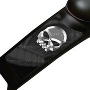 Gas Tank Dash Console Panel Decal For 87-07 Harley Touring - Silver Metal Skull