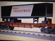 2014 Mth 30-76546 Pacific Fruit Express Flat Car W Pacific Fruit Express Trailer