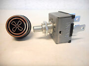Rotary A/c 3 Speed Blower Switch Universal Type W/ 'fan' Knob Indak,made In Usa