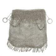 Antque Vtg Russian Silver Mesh Purse Bag 363g Heavy Fully Marked Signed