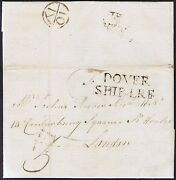 1786 Dover Ship Letter From Savanaha Usa To London Fine Bishop Mark