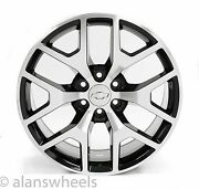 4 New Chevy Suburban Tahoe Black And Machined Face 22andrdquo Wheels Rims Lug Nuts 5656