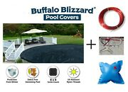 Buffalo Blizzard Deluxe Round And Oval Swimming Pool Winter Covers W/ 4 X 4 Pillow