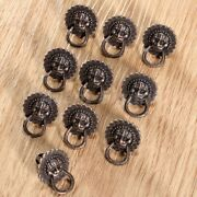 Antique Classic Lion Head Pull Handle Knobs Ring For Wardrobe Drawer Jewelry Box