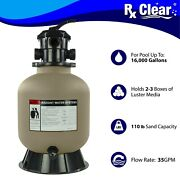 Rx Clear Radiant 16 Inch Above Ground Swimming Pool Sand Filter W/ 6-way Valve