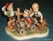 Soap Box Derby Goebel Hummel Figurine 2121 Tmk8 Moments In Time Collection Rare