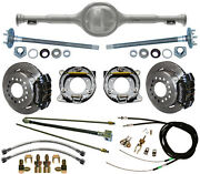 Currie Replica 67-70 Mustang Rear End And Wilwood Disc Brakes,black Calipers,lines