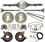Currie 70-87 Chevy C10 5-lug Truck Rear End And Disc Brakeslinesparking Cables
