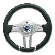 Yamaha Rhino Pro One 12-3/4 Leather Steering Wheel Combo With Cover And Adapter