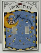 Mary Engelbreit Baby Sitting On A Moon Double Switch Plate - Sdbms