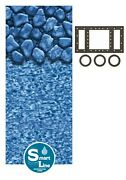 Above Ground 30 Gauge Round Boulder Swimming Pool Overlap Liners W/ Gasket Kit