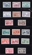 Us 230p4-245p4 1893 Columbian Issue Plate Proofs On Card Xf H Scv 2110 -002