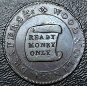 C1794 Drapers And Wood And Linen Condor Token - Ready Money Only - Bath Street Bath.