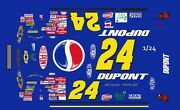 24 Jeff Gordon Pepsi Chevy 2001 1/25th - 1/24th Scale Waterslide Decals