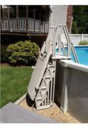 Vinylworks Af-t Above Ground Swimming Pool Step And Ladder Entry System - Taupe