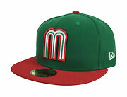 New Era 59fifty Wbc 2017 Cap Mexico Official Team Color Fitted Hat Green Red