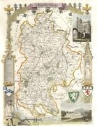 Bedfordshire Antique Hand-coloured County Map By Thomas Moule C1840 Old