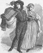 Hungary. Hungarian Costumes 1893 Old Antique Vintage Print Picture