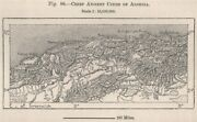 Chief Ancient Cities Of Algeria 1885 Old Antique Vintage Map Plan Chart