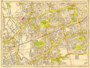 London East End Tower Hamlets Newham Stratford West Ham Geographers A-z 1956 Map