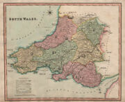 Antique Map Of South Wales By Henry Teesdale 1831 Old Plan Chart