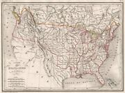 Usa. Ca Nv Ut Az Nm Texas In Mexico Part Of Bc In Usa. Malte-brun C1846 Map