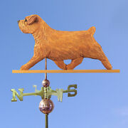 Norfolk Terrier Hand Carved Hand Painted Basswood Dog Weathervane Red