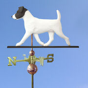 Jack Russell Terrier Hand Carved Hand Painted Basswood Dog Weathervane Black/...