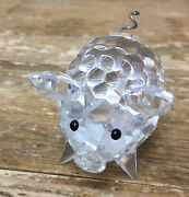 Pig Lead Crystal Signed S Variation 2 Med Faceted Miniature Wire Tail
