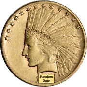 Us Gold 10 Indian Head Eagle - Xf Condition - Random Date
