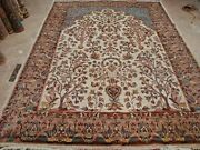 New Tree Of Life Peace Birds Area Rug Wool Silk Hand Knotted Carpet 10 X 7'