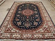 New Awesome Medallion Floral Oriental Rug Wool Silk Hand Knotted Carpet10 X 7and039