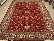 Rectangle Amazing Floral Area Rug Hand Knotted Silk Wool Carpet 10 X 7and039