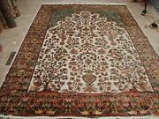 Exclusive Rug Tree Of Life Peace Birds Hand Knotted Silk Wool Carpet 10 X 7'