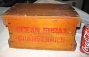 Antique Ocean Spray Cranberries Country Farm Store Usa Wood Art Box Stand Sign