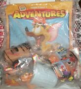 Disney Oliver And Company Burger King Kids Meal Toy 1996 Lot Of 4 Set Nip